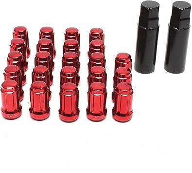 20 X M14 X 1.5 tuercas hexagonales de 19mm Rueda de Aleación Inc armarios Negro