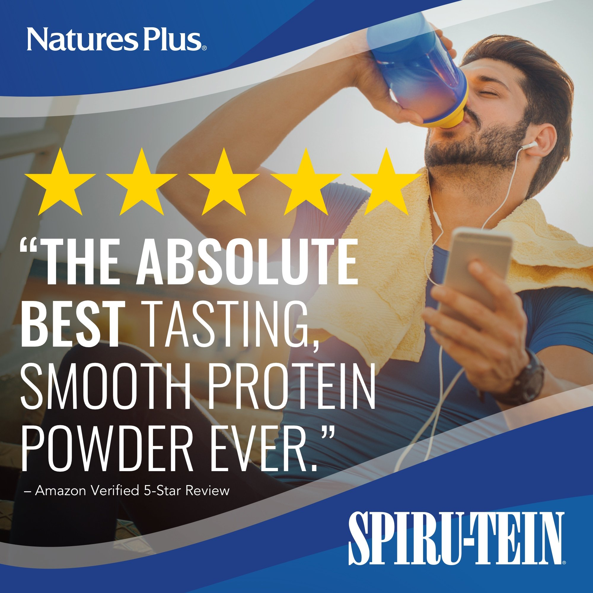 NaturesPlus SPIRU-TEIN Shake - Chocolate - 5 lbs, Spirulina Protein Powder - Plant Based Meal Replacement, Vitamins & Minerals For Energy - Vegetarian, Gluten-Free - 81 Servings by Nature's Plus (Image #2)
