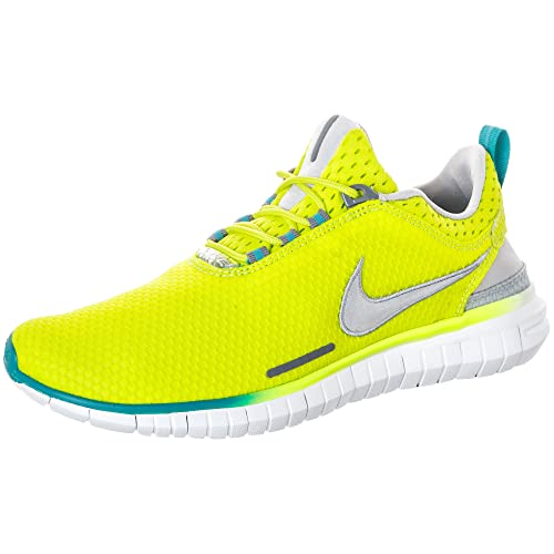 release date 37859 b450c Nike Free OG ´14 BR Breathe Running Shoes Current Model neon Yellow Green