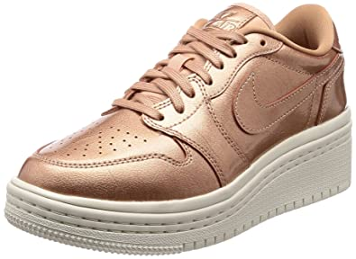a5a5409b0e0 Nike WMNS Air Jordan 1 Retro Low Lifted AO1334-901 Bronze Women s Shoes
