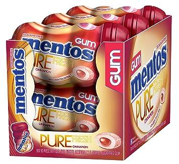 Mentos Pure Fresh Sugar-Free Chewing Gum with Xylitol, Cinnamon, Halloween  Candy, Bulk, 50 Piece