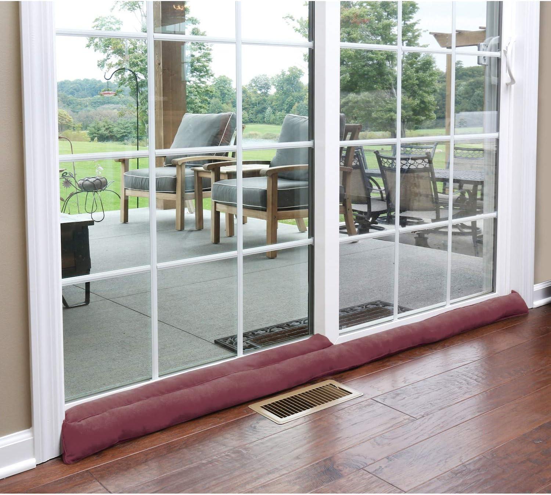 Bloqueador de puerta corredera Home DistrICT – con peso para la puerta del patio, para la brisa, el insecto y el ruido – aprox. 71