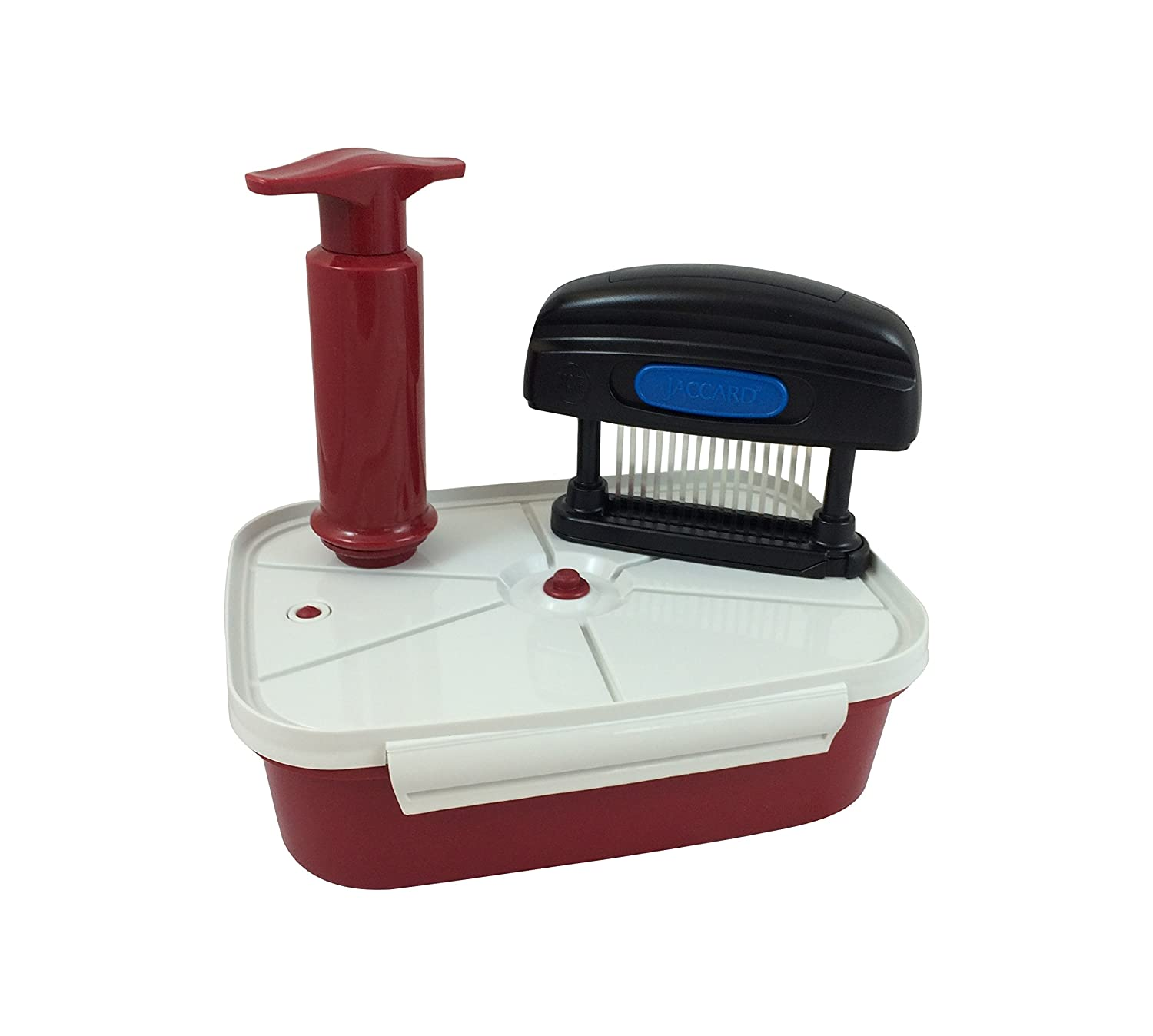 Jaccard 14411 Meat Tenderizer, Speedy Plus Instant Marinater, 2.5-Litre,Red/White/Black 201410