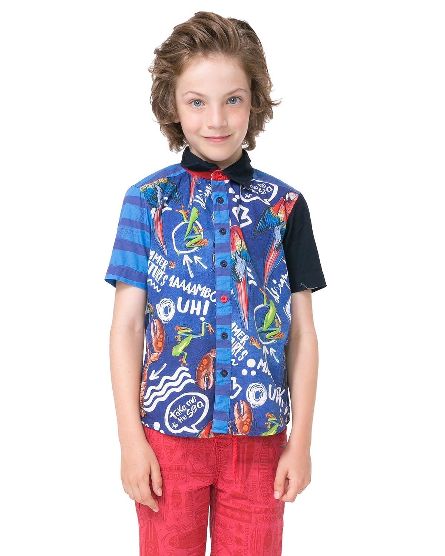 Desigual Boys Shirt Olas Sizes 4-14