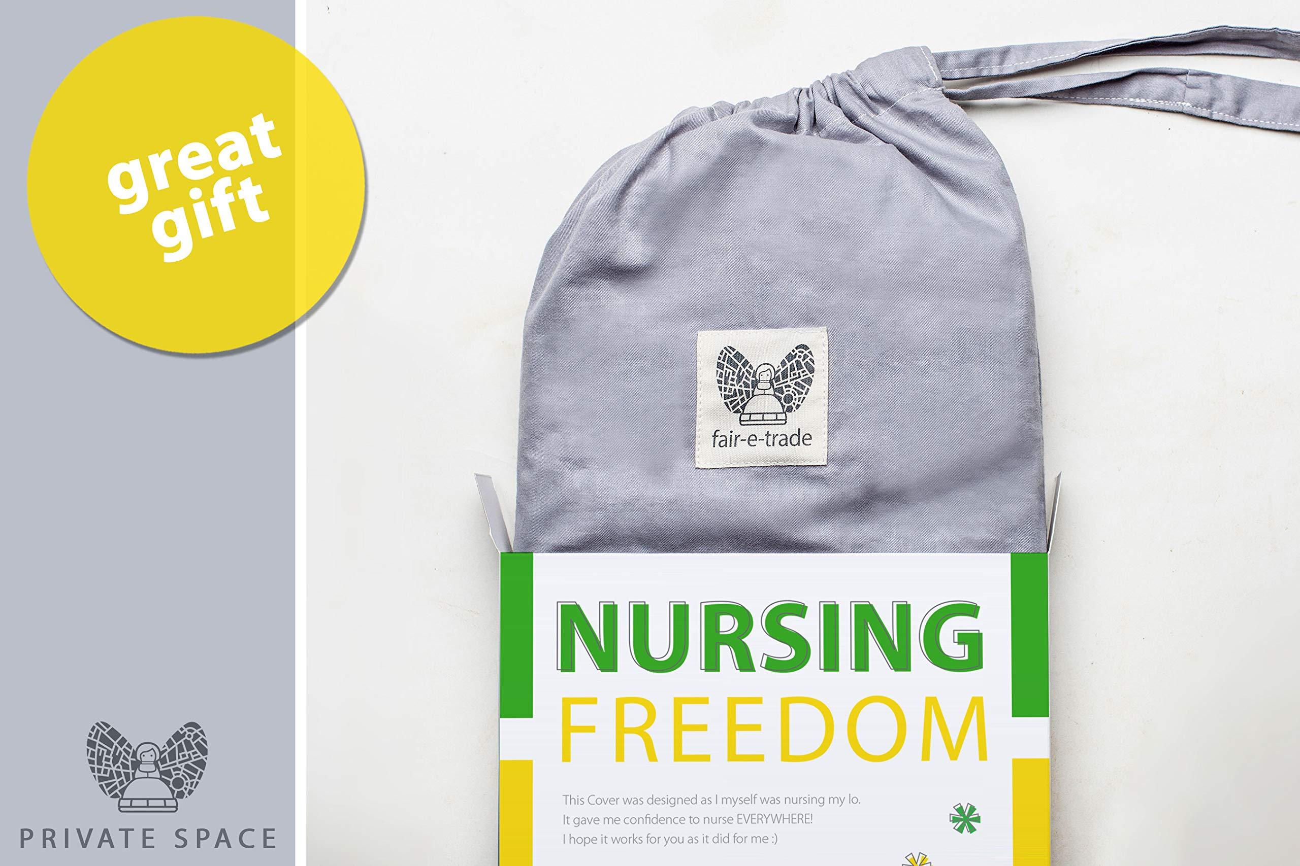 Fair-e-Trade Poncho Rigid Neckline Nursing Cover, 100% Premium Breathable Cotton by Fair-e-Trade (Image #5)
