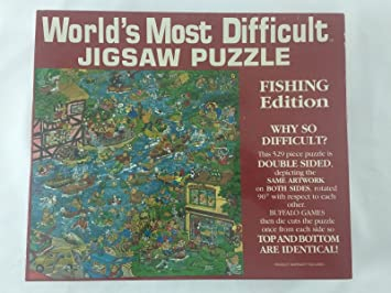 worlds most difficult jigsaw puzzle fishing 529 pieces jigsaw