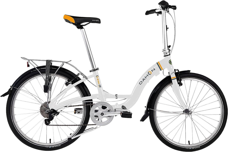 Dahon Briza D8 - Bicicleta Plegable (61 cm), Color Blanco: Amazon.es: Deportes y aire libre