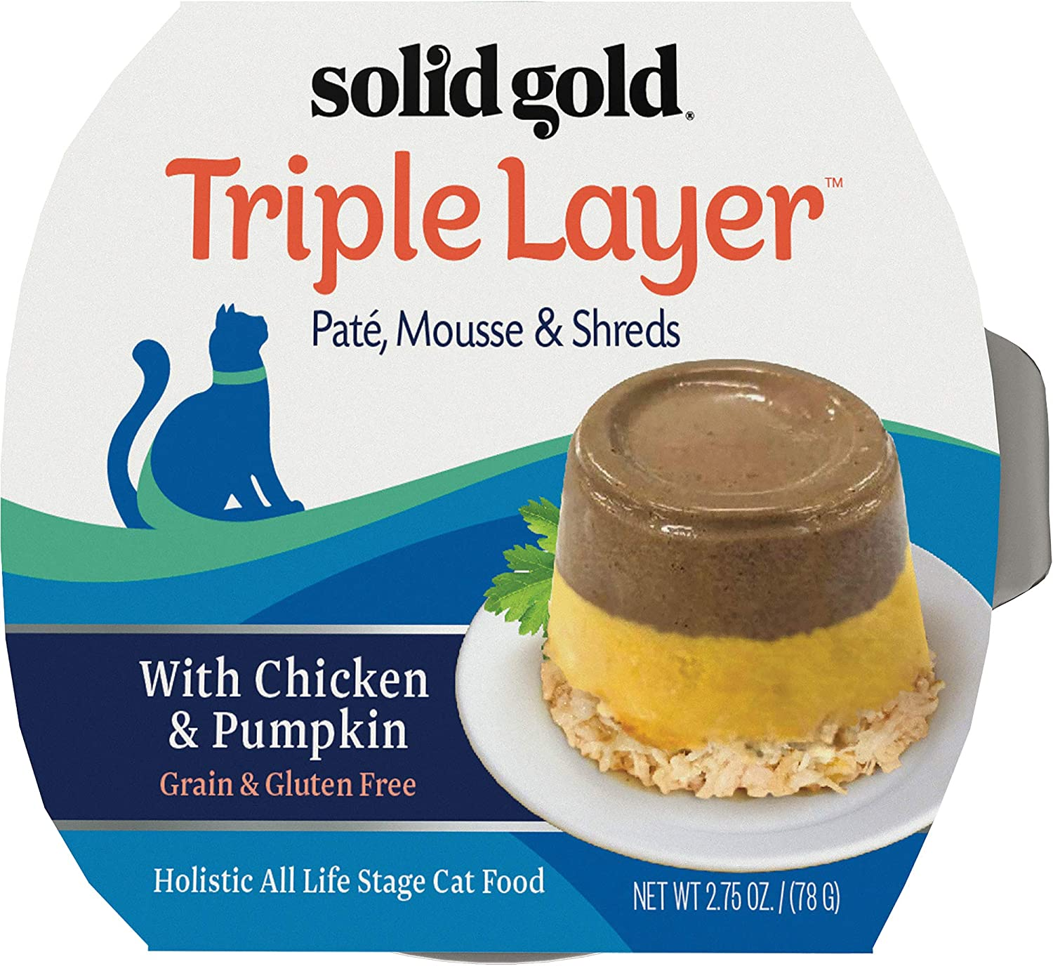 Solid Gold Triple Layer Grain Free Wet Cat Food