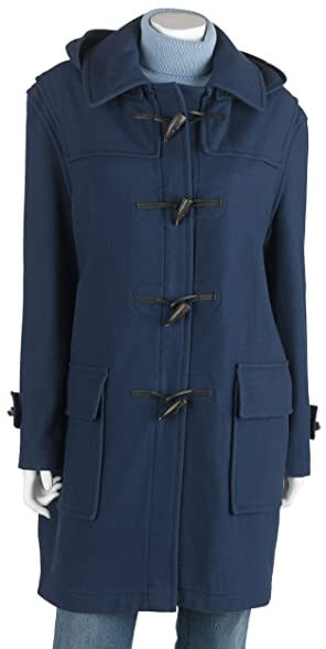 Amazon.com: Burberry Women's Full Length Wool Duffle Coat with ...