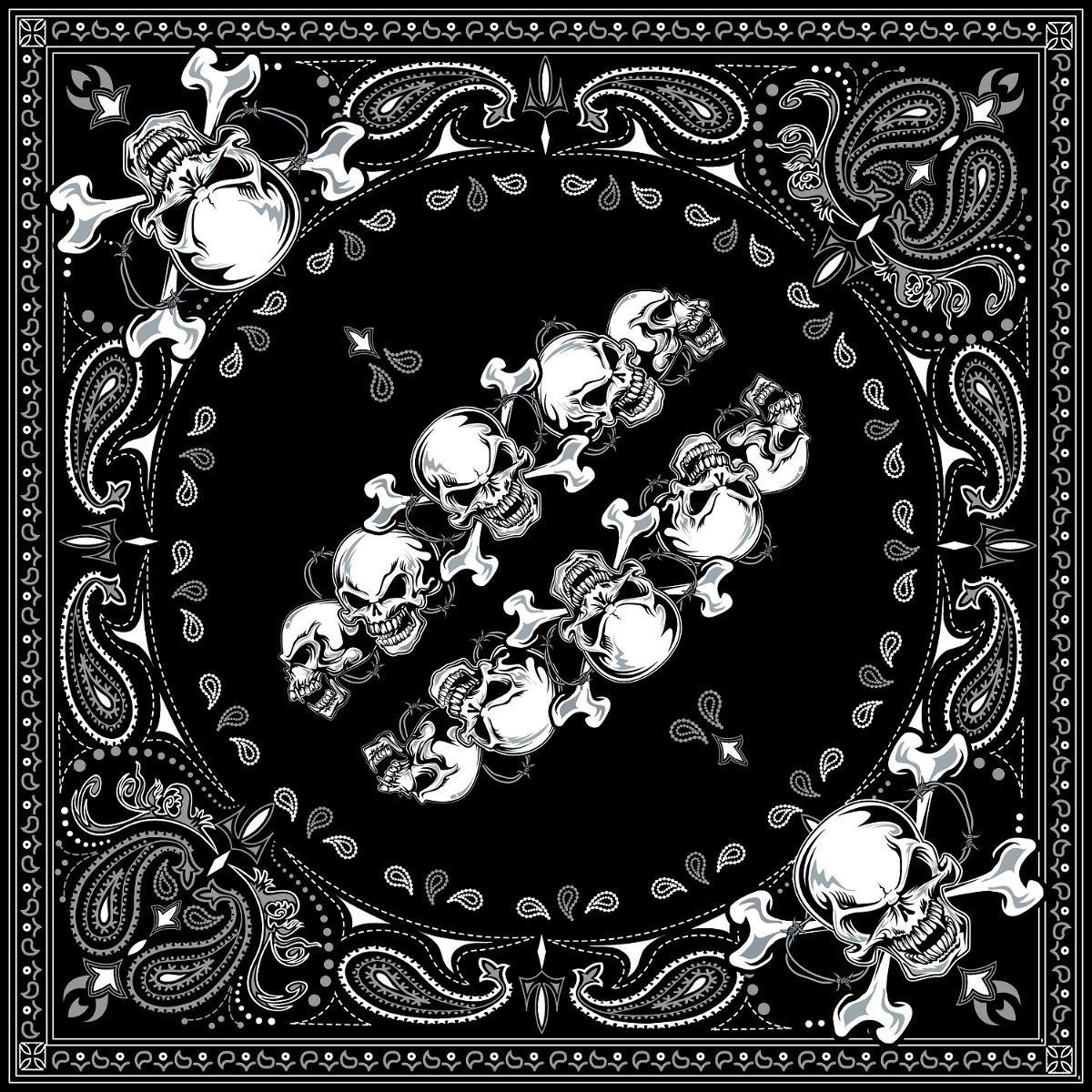 100/% Cotton Black Paisley Zanheadgear B001 Premium Bandanna