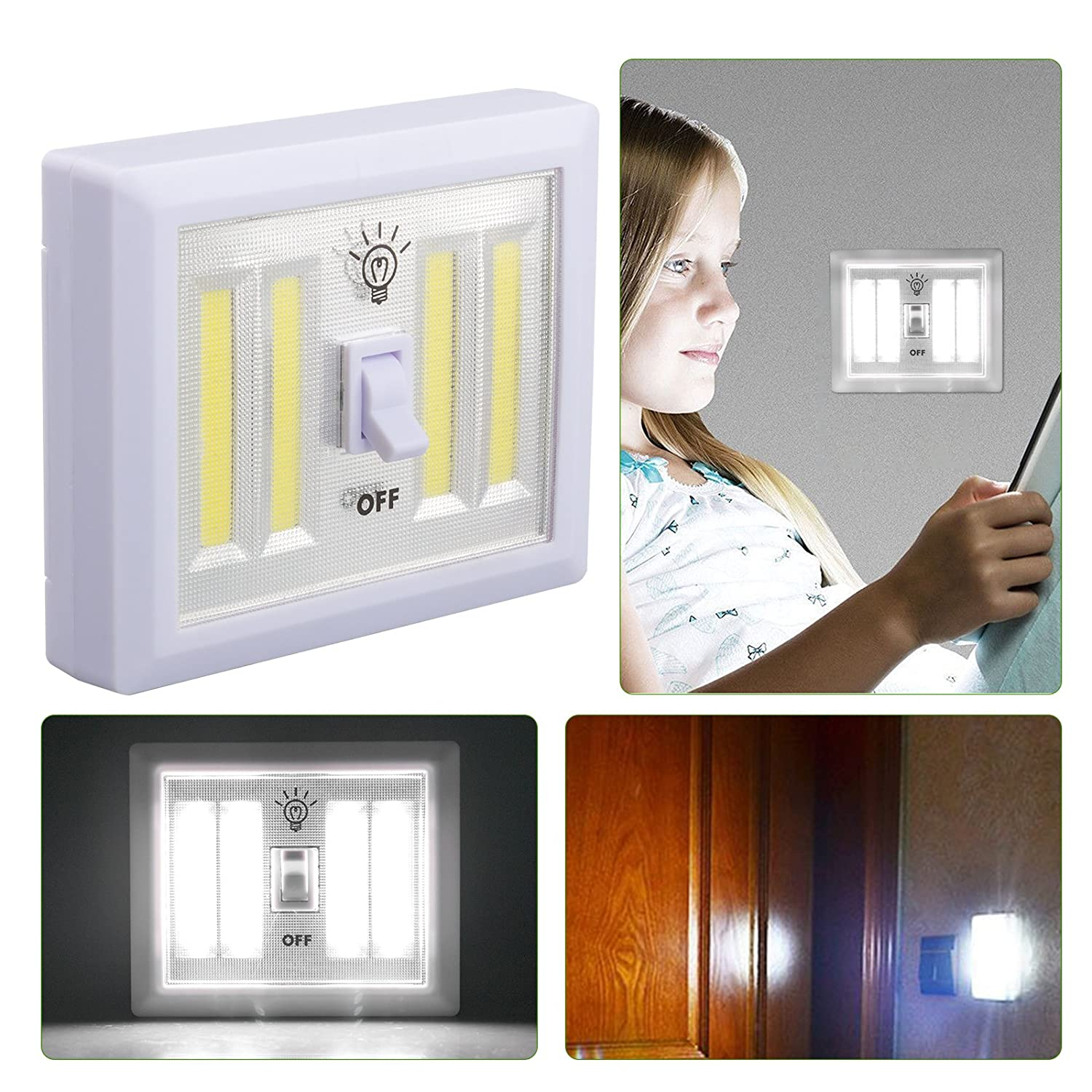 Linkstyle Cob Led Wall Lighted Switch Wireless Closet Night Light