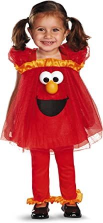 Disfraz Disfraces Barrio Sésamo Frilly Light Up Elmo infantil niña ...