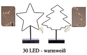 Beleuchteter Stern od Weihnachtsbaum mit 30 LED - Fensterdeko ...