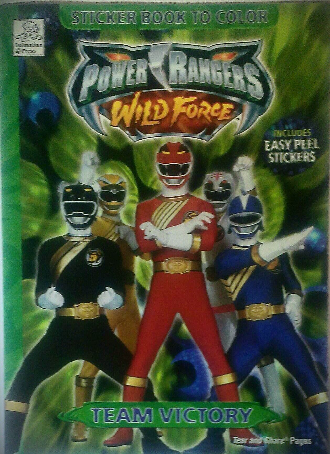 Wild Force: Sticker Story Book to Color (Power Rangers) PDF