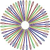50 PCS Colorful Large Eye Plastic Sewing Needles, 3.54 Inch Yarn Needles Plastic Weaving Needles Embroidery Needles Safety La