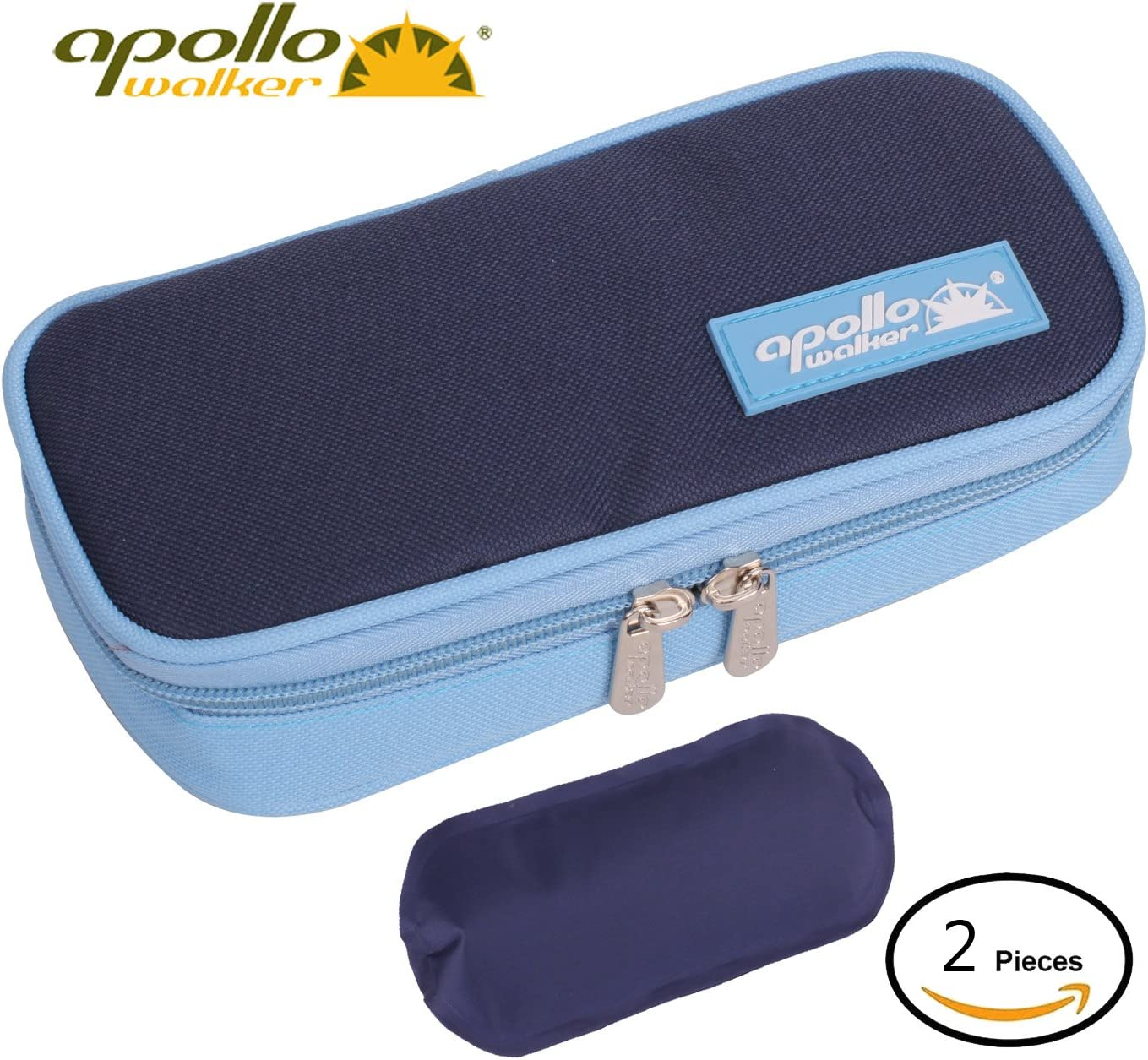 Apollo Walker Diabetes Organizer Medical Cooler Refrigerador de Temperatura más Fresco Bolsa de Viaje Manteniendo el medicamento para la Diabetes refrigerado y Aislado