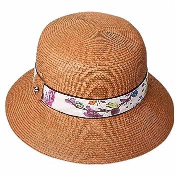 WY-Bufanda Sombrero de Sombrero de Visera de Verano Sombrero de Playa  Vacaciones Plegable Sun 82408c4c324