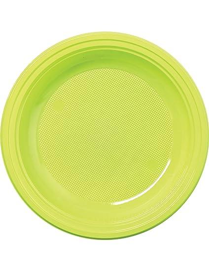 COOLMP - Juego de 12 - 50 Platos pequeños de plástico Verde ...