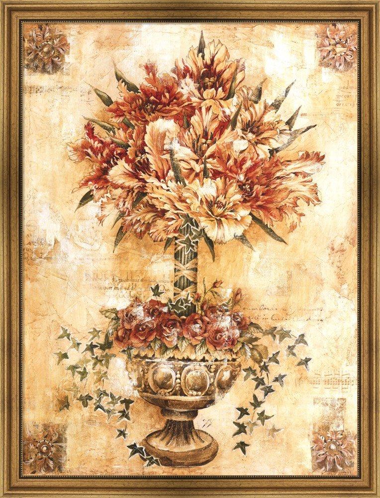Amazon.com: Tulip Topiary by Liz Jardine Framed Art Print Wall ...