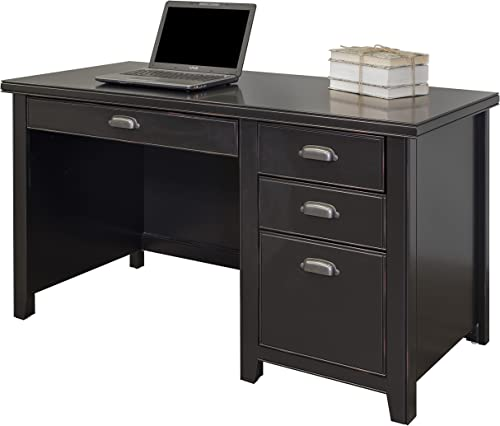 Martin Furniture TL540 Inspired Tribeca Loft Black Single Pedestal Desk