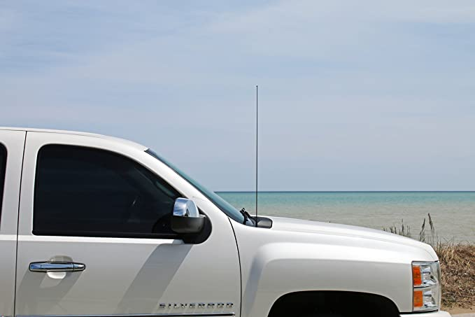 "2004-2018 Nissan Titan 12/"" Black Spring Stainless AM//FM Antenna Mast Fits"
