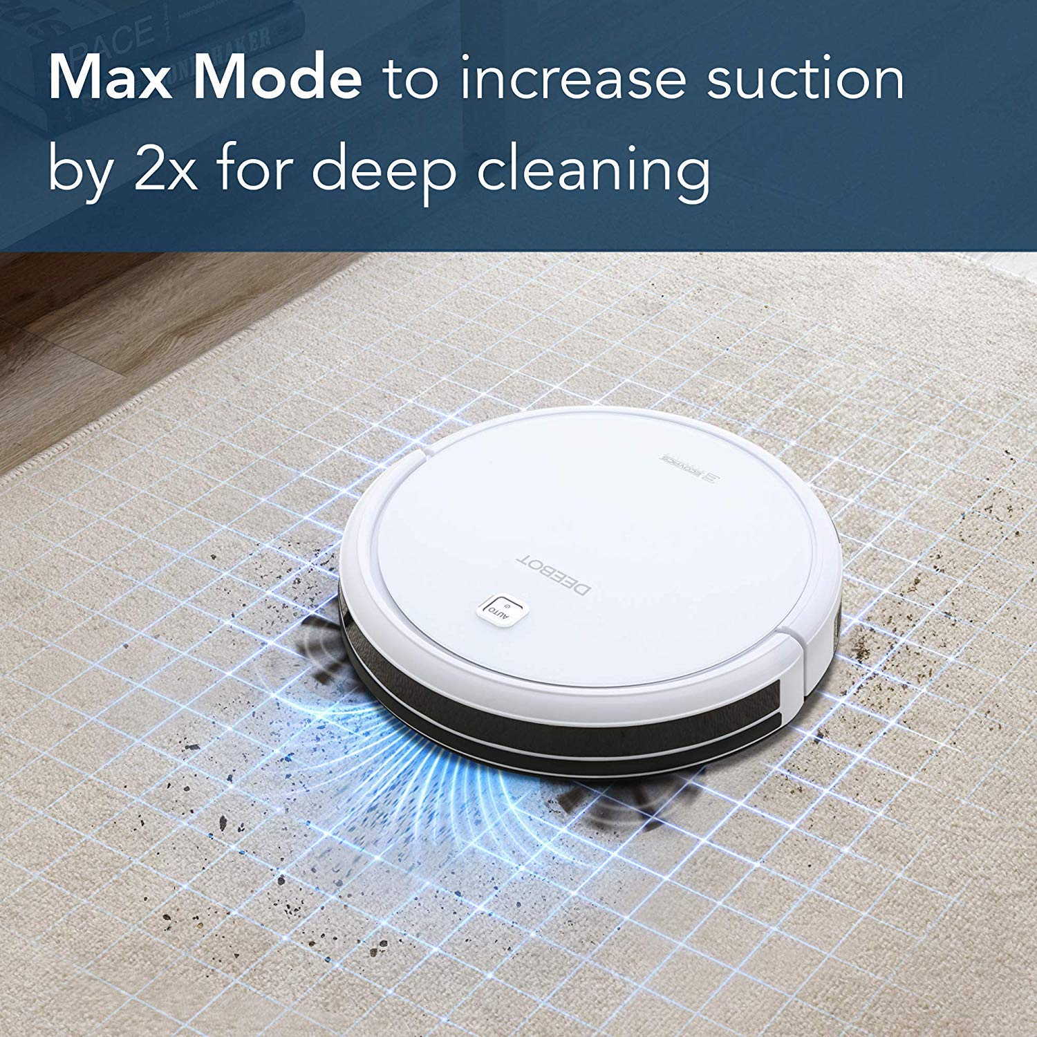 ECOVACS DEEBOT N79W Robot Vacuum Cleaner White with Max Power Suction, Alexa Connectivity, App Controls, Self-Charging, for Hard Surface Floors Thin Carpets Renewed
