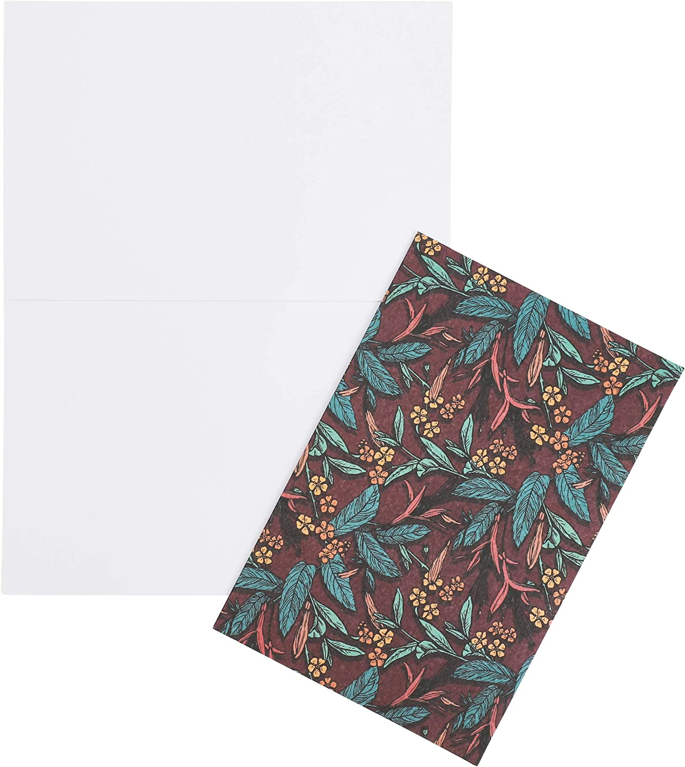 Blank Floral Greeting Cards 6 x 4 in, 48 Pack