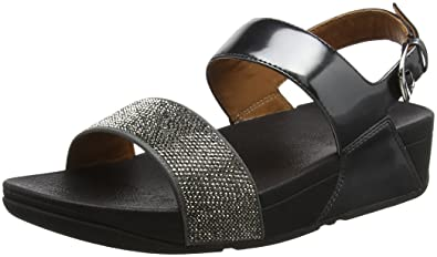 642be66be5497 FitFlop Women s Ritzy Back-Strap Sandals Pewter 10