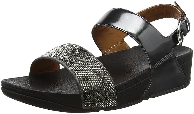 Ritzy Back-Strap Sandals, Sandalias con Punta Abierta para Mujer, Dorado (Gold 10), 36 EU FitFlop