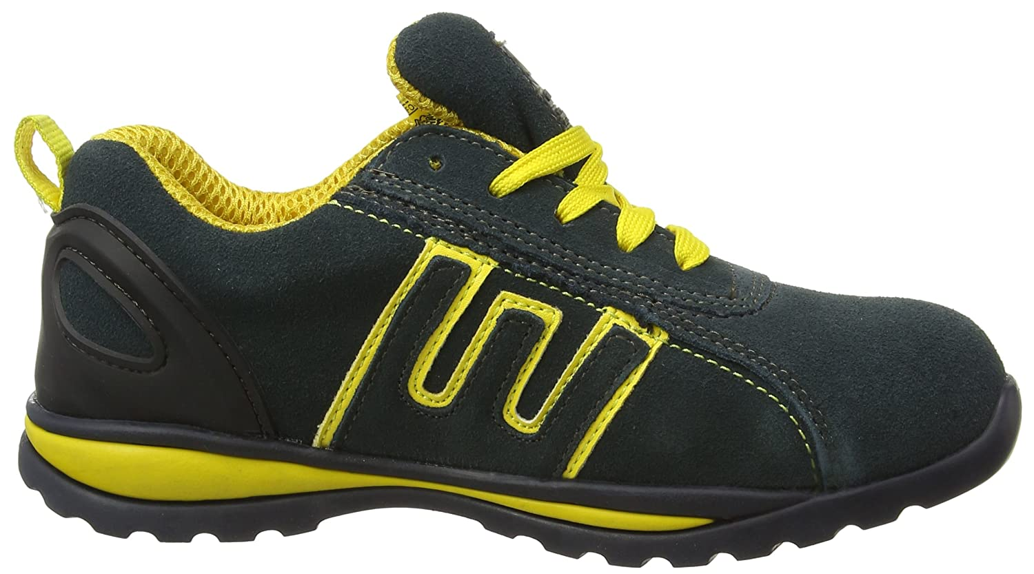 Groundwork GR86 Zapatos de Seguridad de Cuero, Unisex, Azul (Navy/Yellow), 37 EU (3 UK)