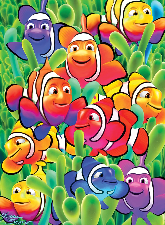60 Piece Jigsaw Puzzle White Mountain Puzzles Cute Clowns