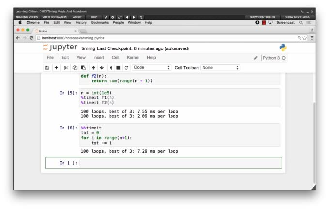 Learning Cython [Online Code]