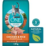 Purina ONE Natural Dry Cat Food, Chicken and Rice 1.59kg Bag