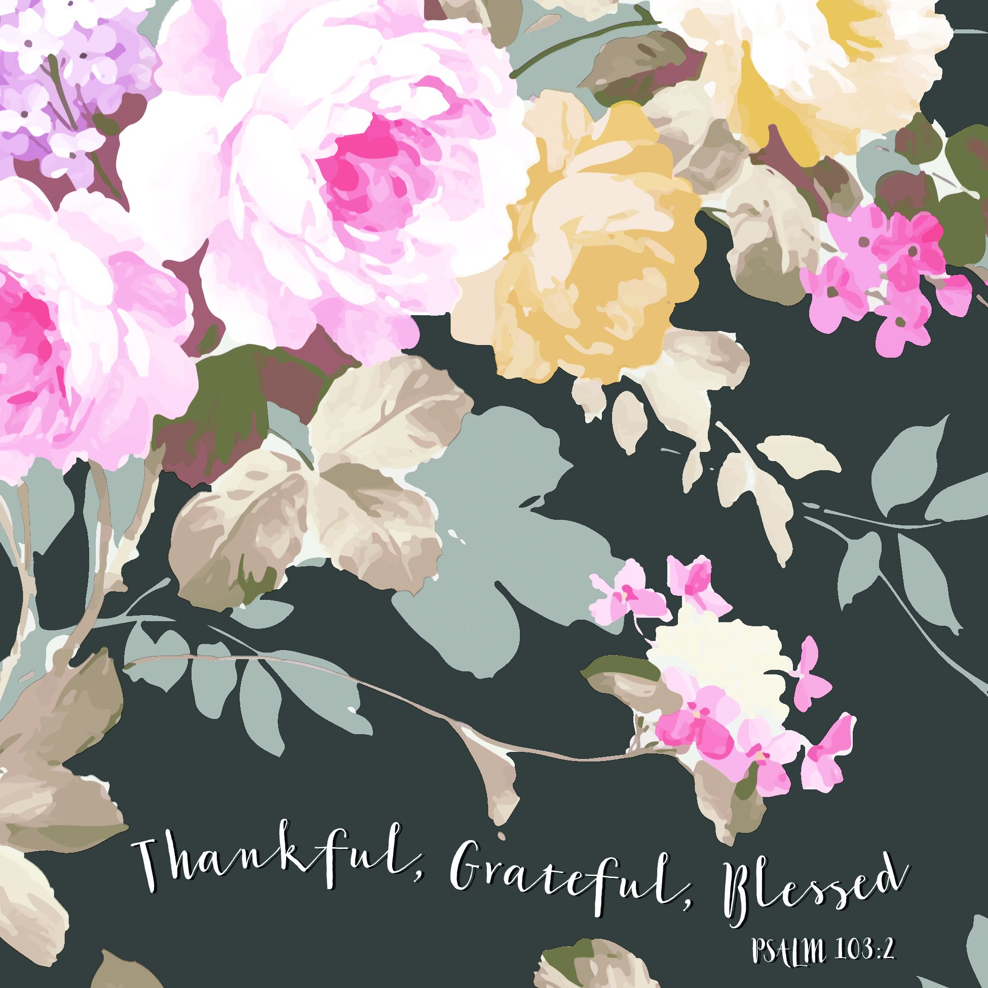 Thankful Grateful Blessed 20 Count 3-Ply Paper Luncheon Napkins Pack of 2