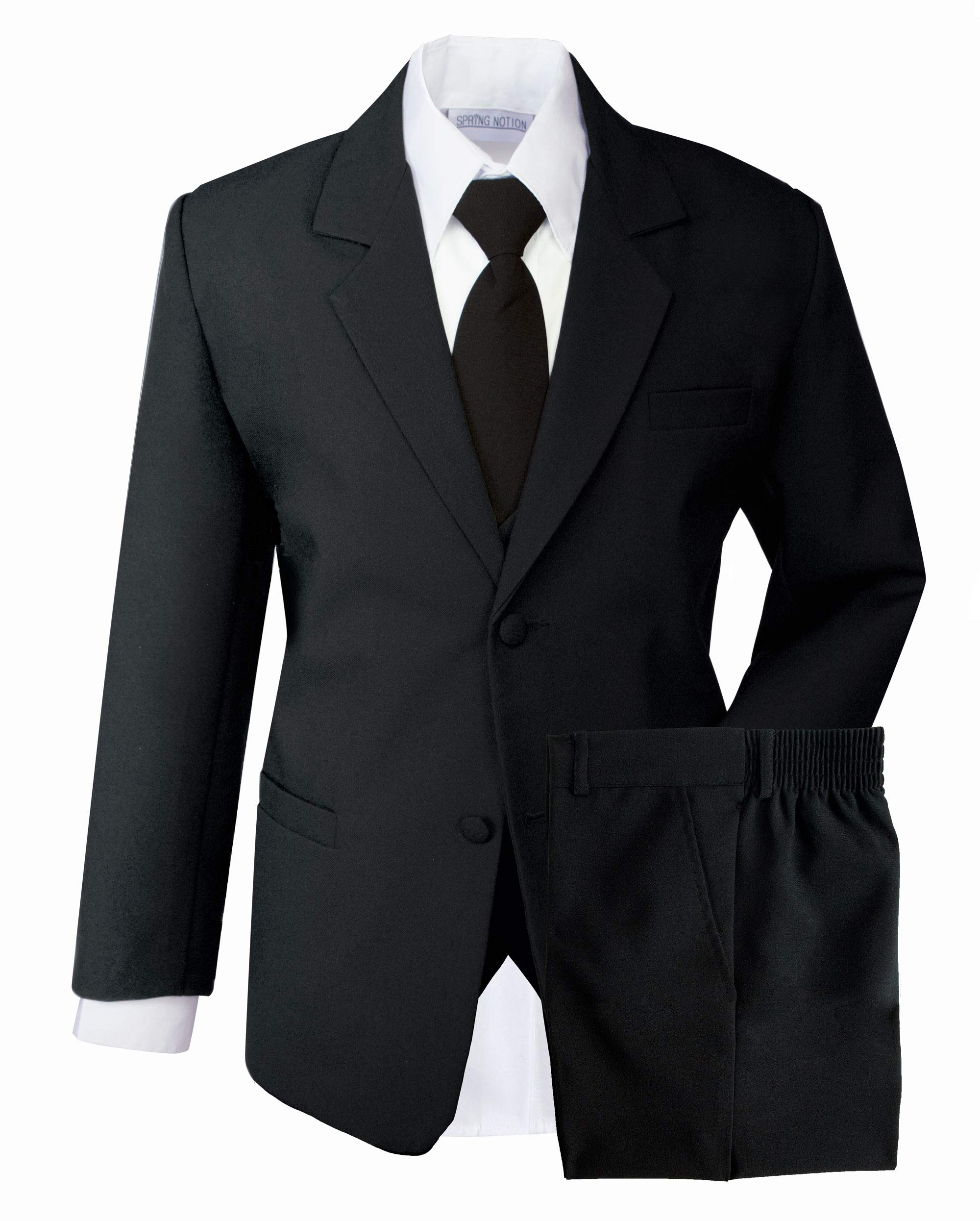Spring Notion Boys' Formal Black Dress Suit Set 4T