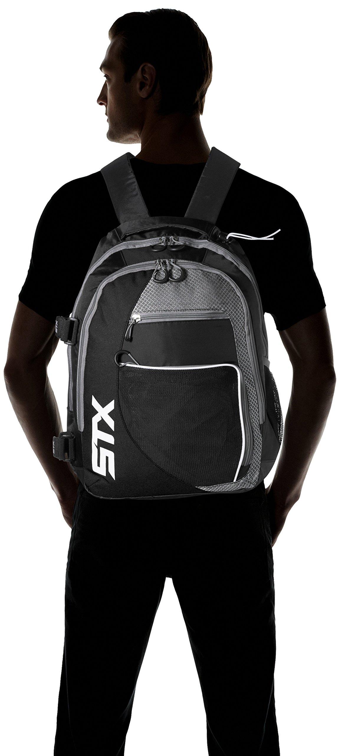 STX Lacrosse Sidewinder Lacrosse Backpack, Black by STX (Image #4)