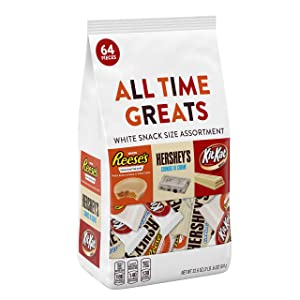 HERSHEY'S All Time Greats White Chocolate Candy, Snack Size Variety Mix, 32.6 Ounce (Pack of 1)