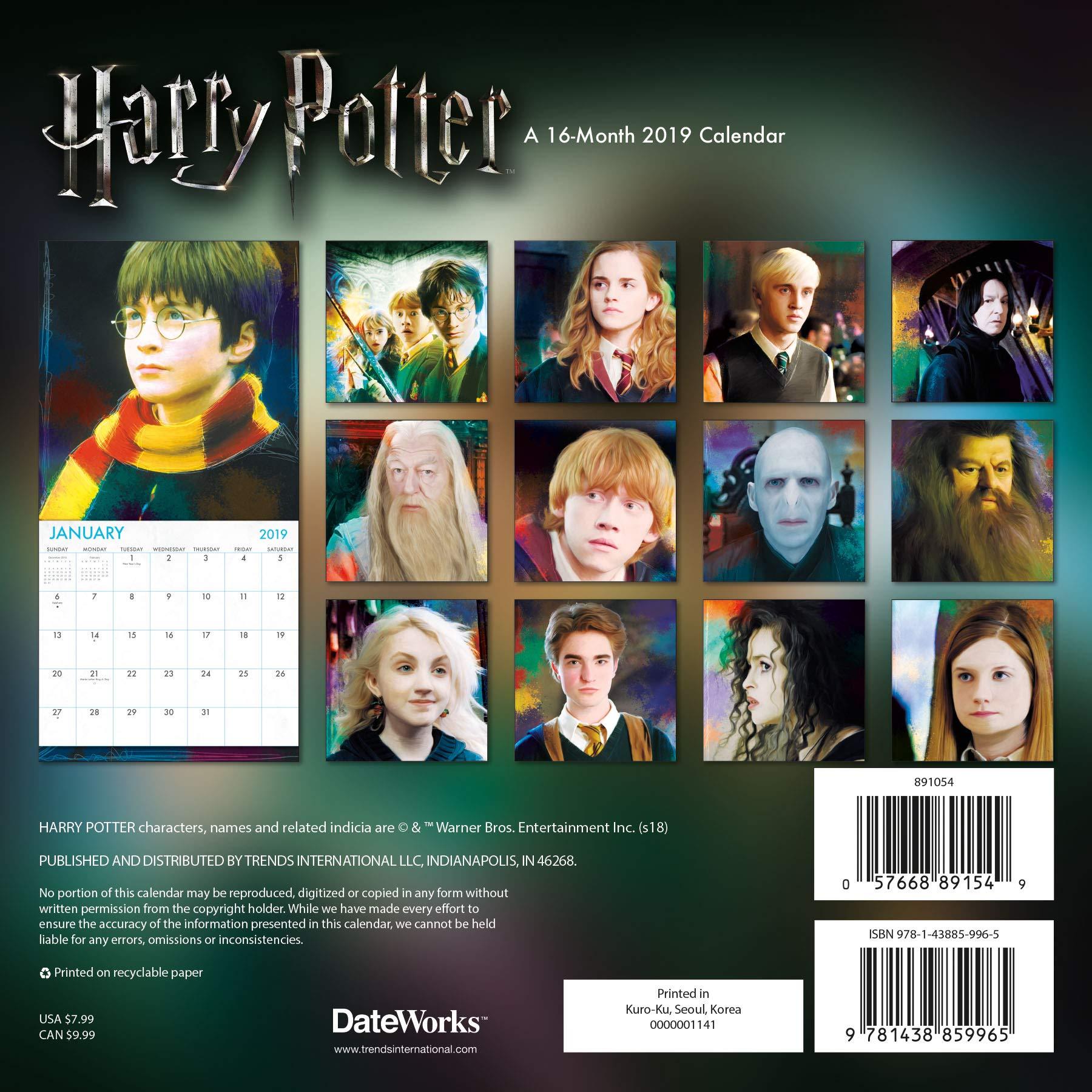 Calendario Harry Potter.2019 Harry Potter Mini Calendar Trends International
