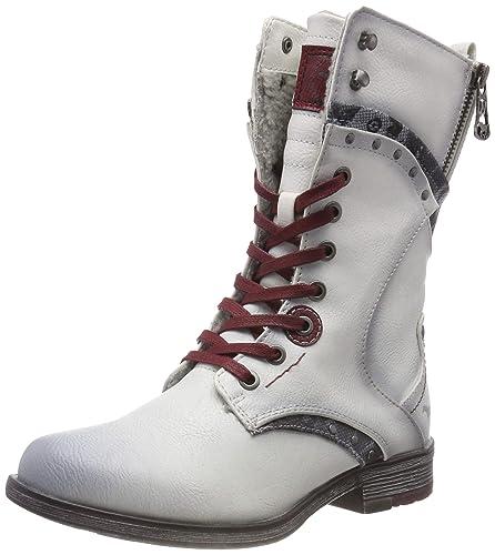 MUSTANG Damen Stiefeletten Schuhe Weiß, Größe:39 | real