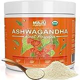 MAJU's Ashwagandha Organic Root Powder - Premium, Non-GMO, Finely Ground, Adaptogenic Boost, Natural Stress-Relief, Ashwagandha Root Powder (113 g)