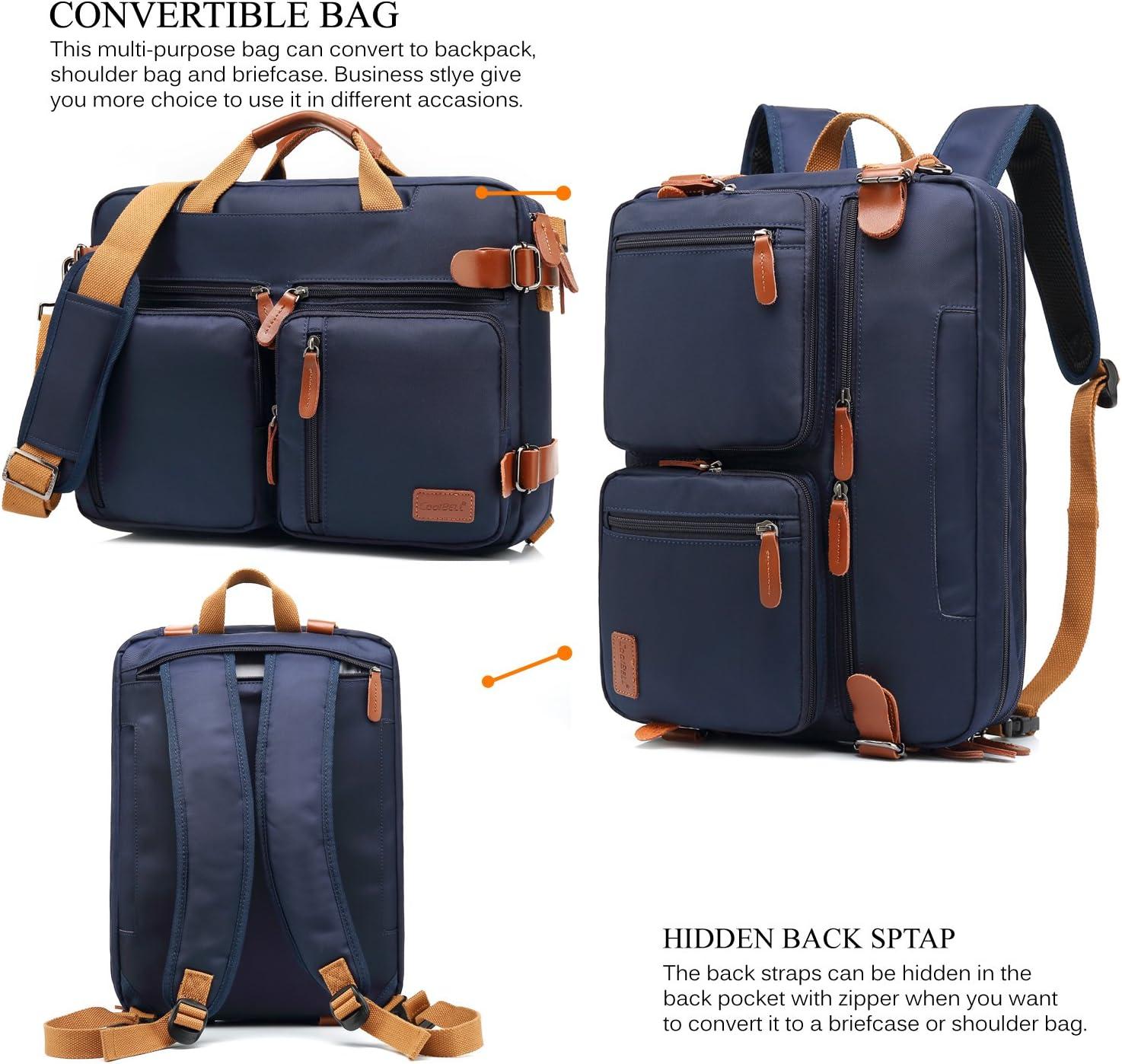 CoolBELL 17.3 Inch Laptop Briefcase Protective Messenger Bag Nylon Shoulder Bag Multi-functional Hand Bag For Laptop//Ultrabook//Tablet//Macbook//Dell//HP // Black