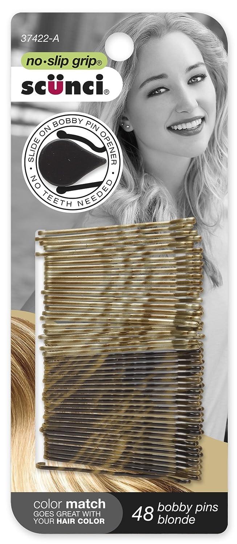 SCUNCI - No-Slip Grip Beautiful Blends Blonde Bobby Pins - 48 Pack 3742201Z048