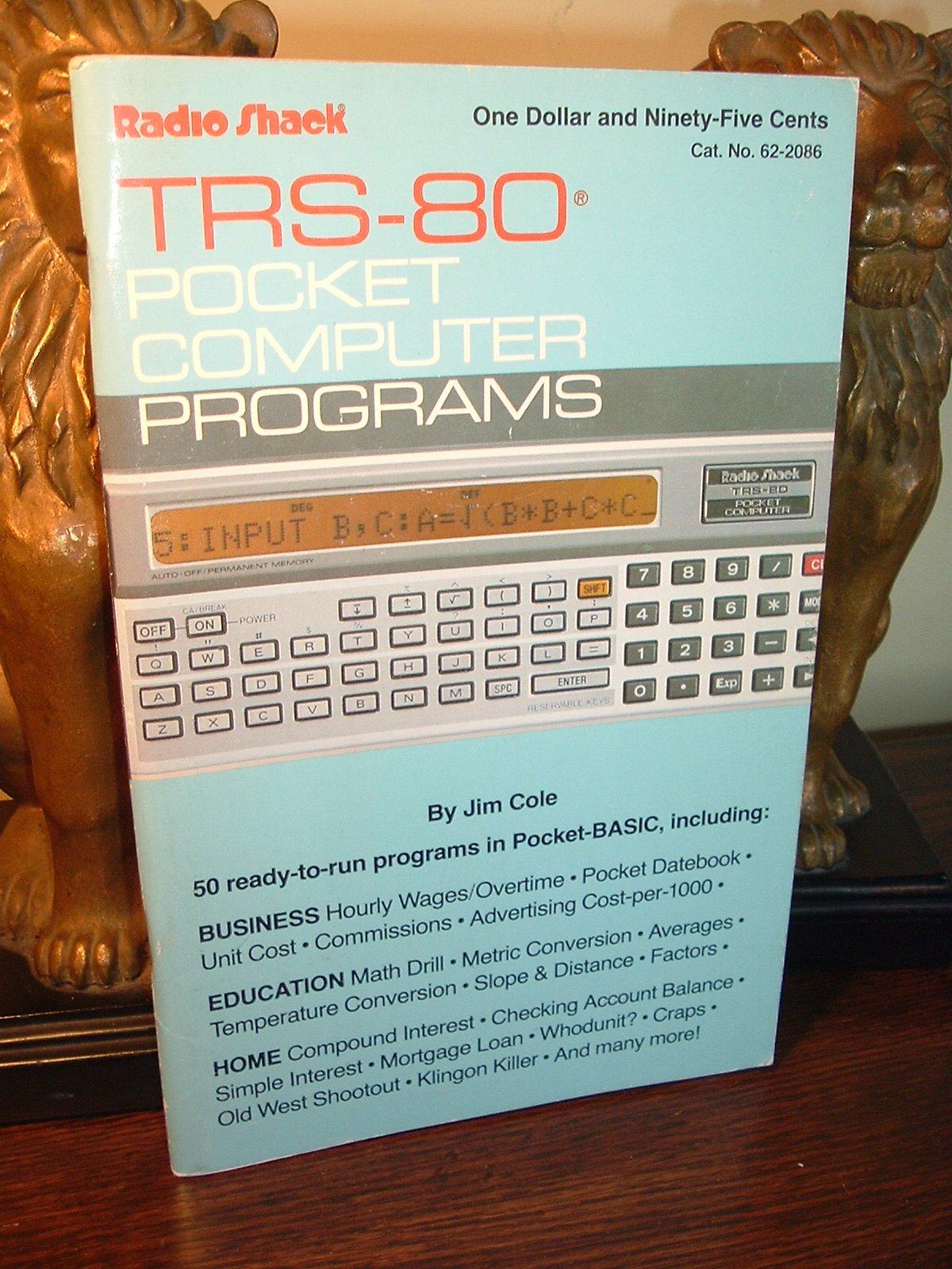 TRS-80 pocket computer programs: Jim Cole: 9780866689021: Amazon.com ...