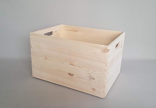 Mani-Ko Caja de Almacenamiento de Madera Lisa, Grande, para ...