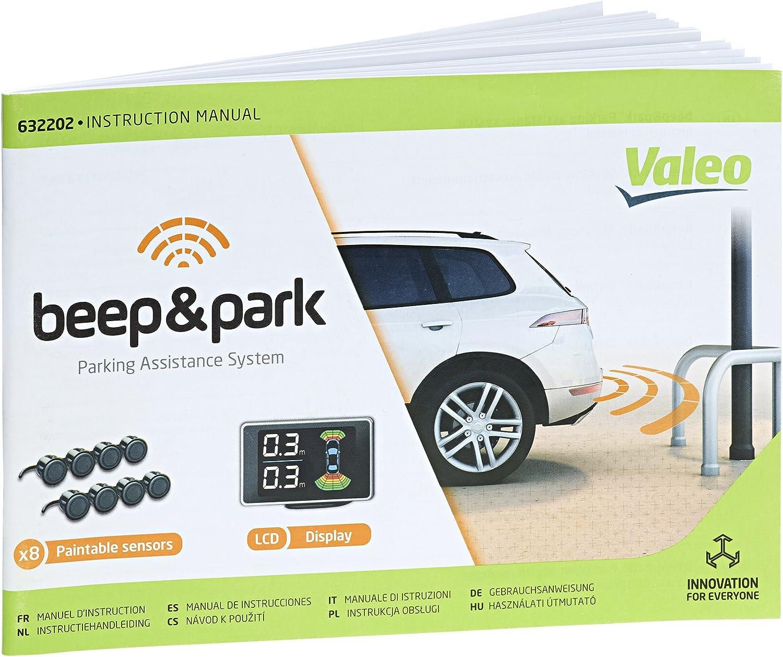 Valeo Beep Park Einparkhilfe Mit 8 Sensoren Und Lcd Display Zum Front Und Heckeinbau Artikelnr 632202 Schwarz Auto