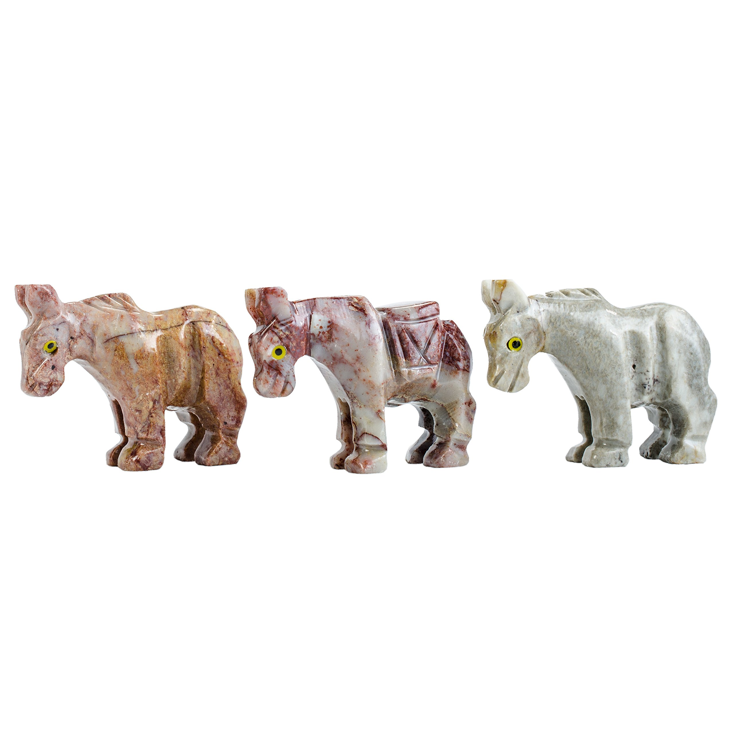 Digging Dolls : 30 pcs Artisan Donkey Collectable Animal Figurine - Party Favors, Stocking Stuffers, Gifts, Collecting and More!