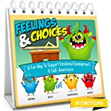 Feelings & Choices Flip Book | Teach 28 Emotions to Kids & Toddlers | Early Learning Feelings Chart & Book Flash Card Alterna