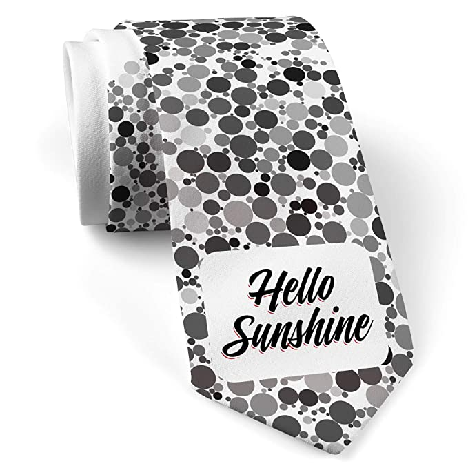 048fa6f36 Image Unavailable. Image not available for. Color: Neck Tie with Vintage  Lettering Hello Sunshine ...