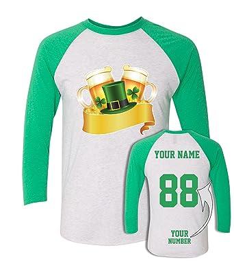 100a51b47 Custom Jerseys St Patrick's Day T Shirts ҇ Saint Pattys Baseball Raglans  Irish Outfits