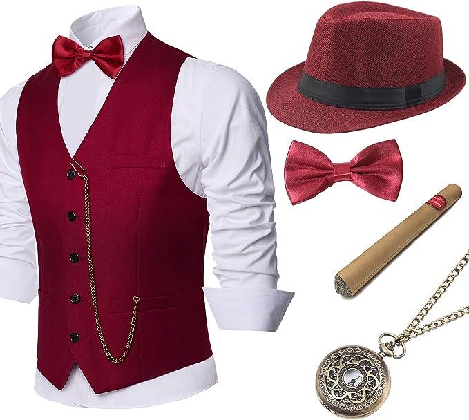 BABEYOND - Chaleco de gángster de Gatsby de los años 20 para ...